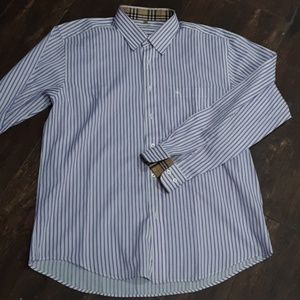 AUTHENTIC BURBERRY LONDON STRIPED SHIRT XL